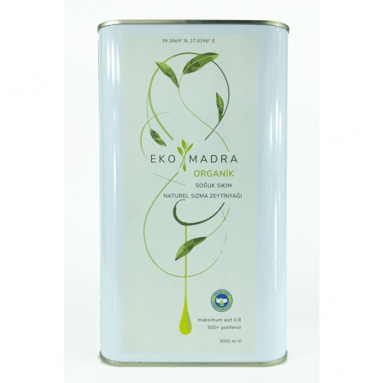 Organic Extra Virgin Olive Oil 3 liters
