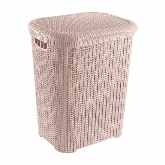 KNIT LAUNDRY BASKET